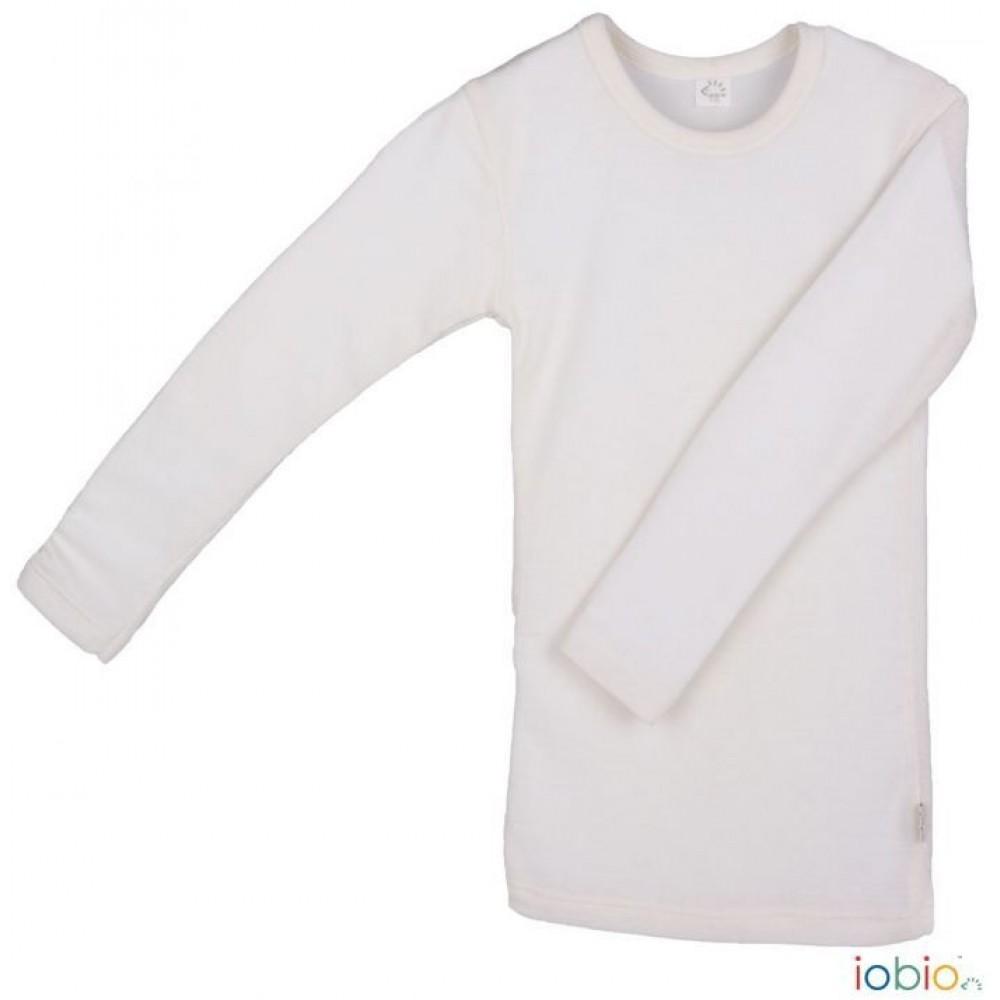 Iobio langærmet t-shirt uld and silke GOTS natur-31