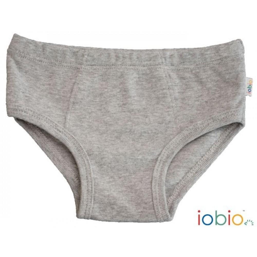 Iobio underbukser gots bomuld grå-31