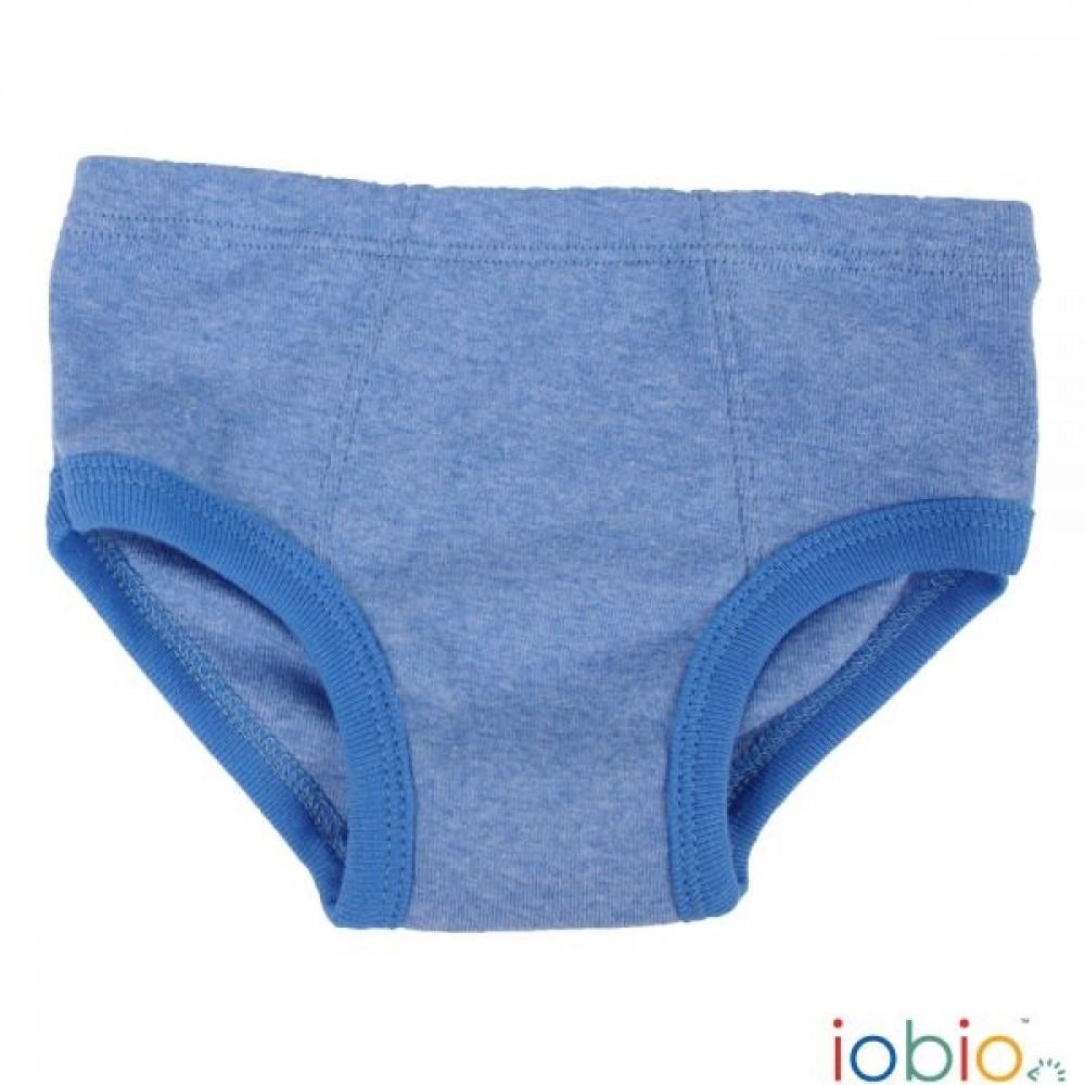 Iobio underbukser gots bomuld blå melange-33