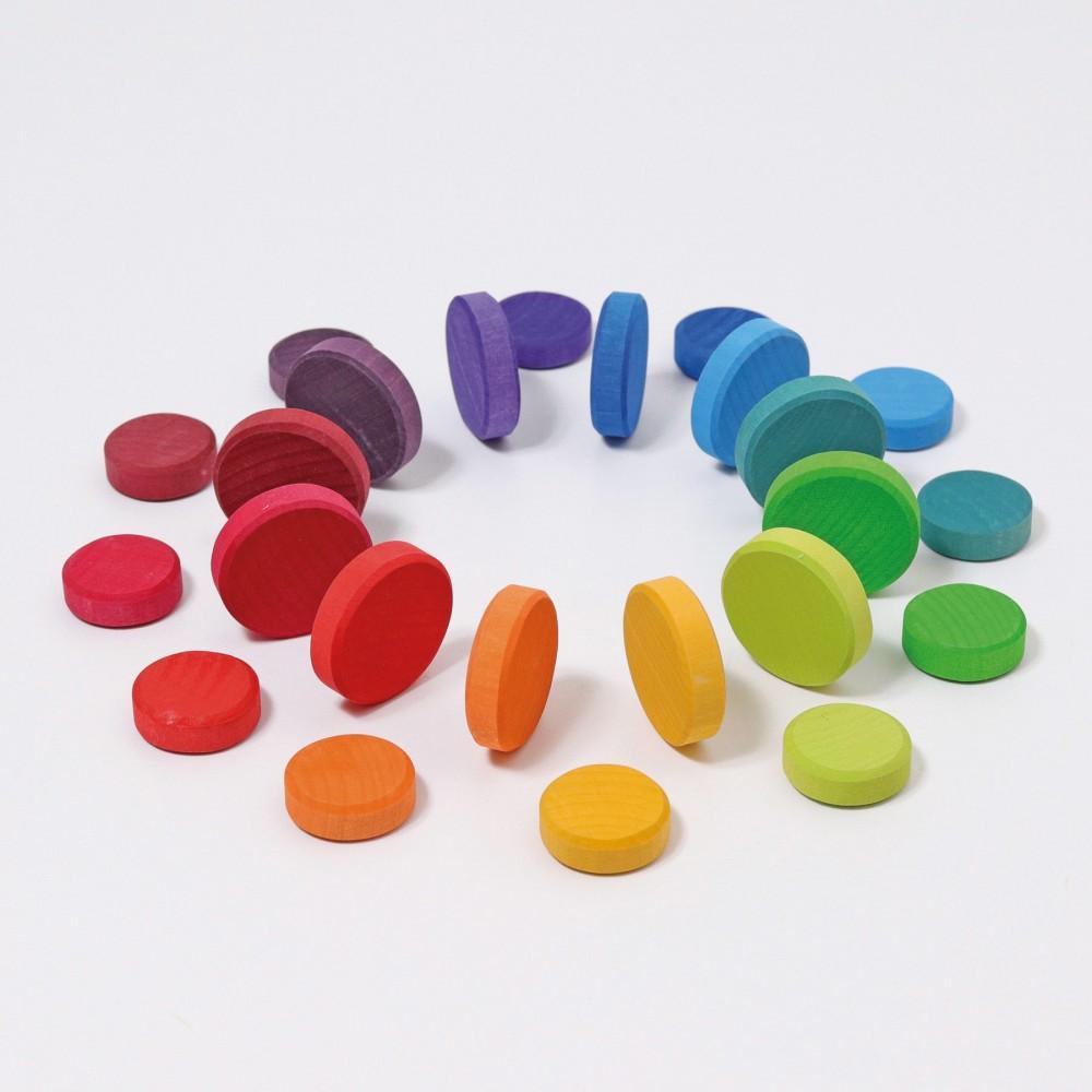 Grimms coins 24 stk. klassiske farver-01