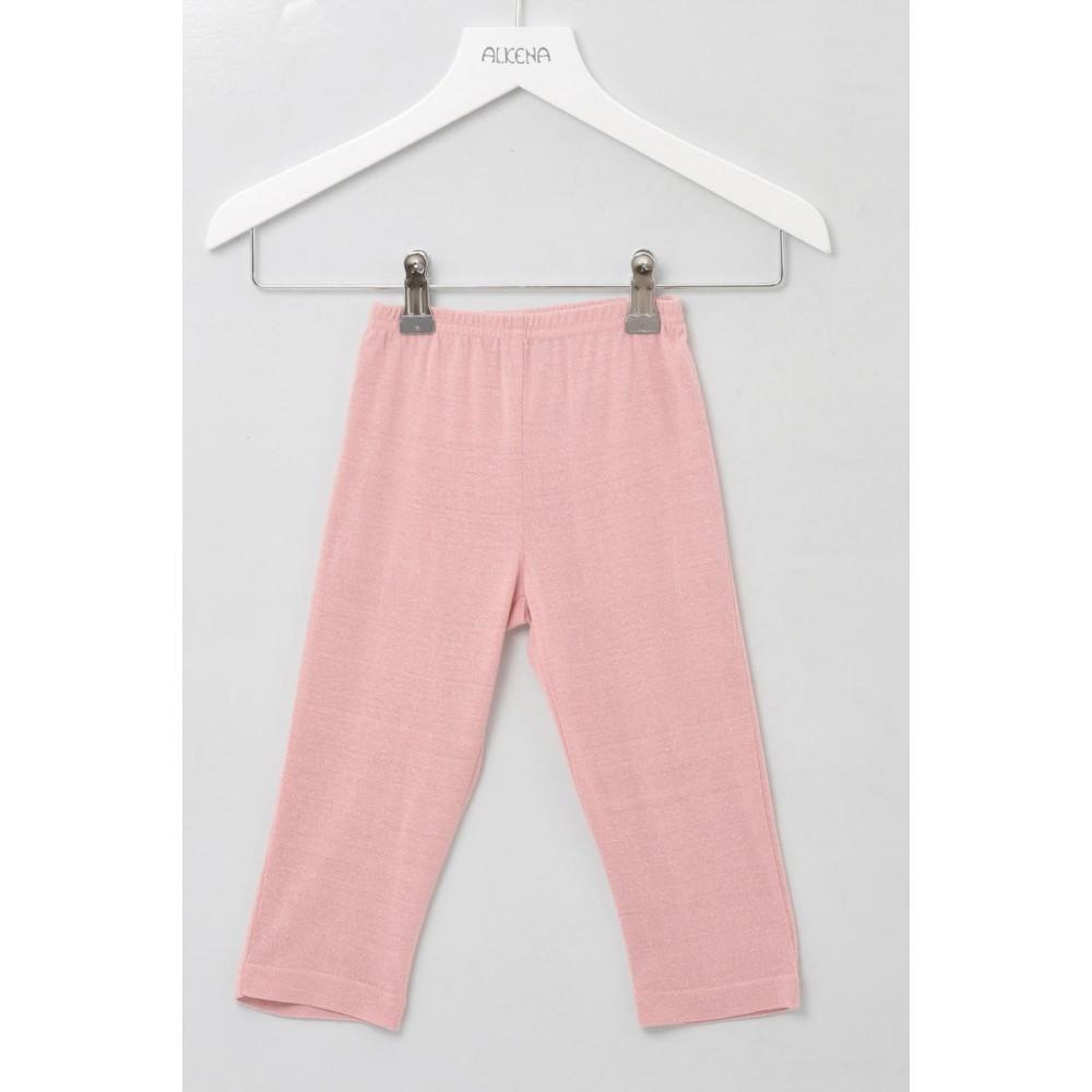 Alkena bukser bourette silke støvet rosa-31