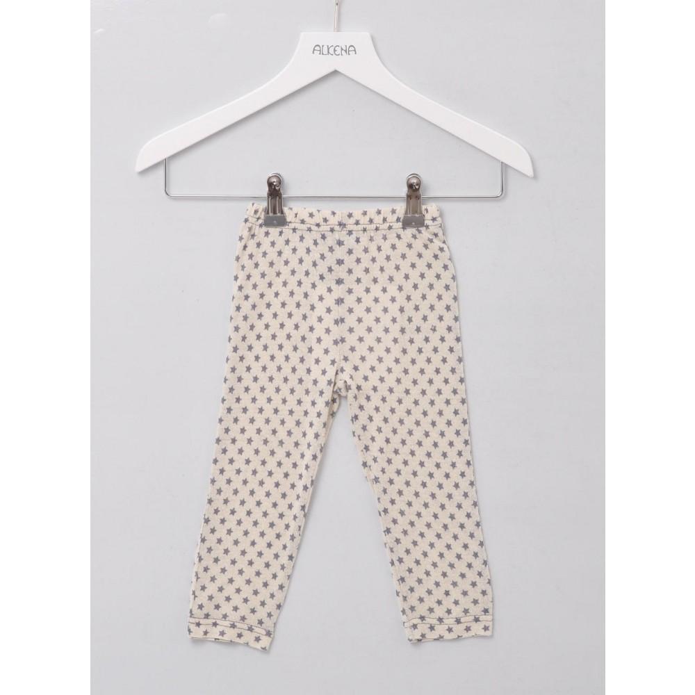 Alkena bukser bourette silke natur m. stjerner-31