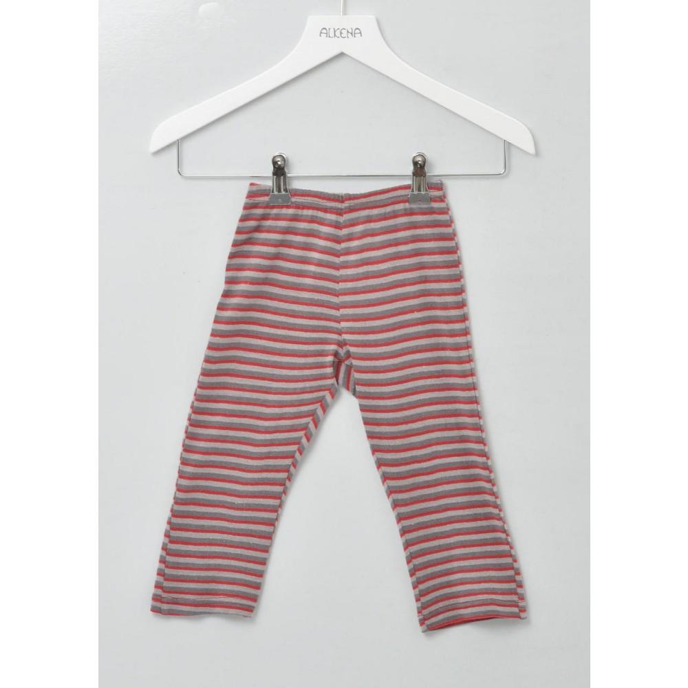 Alkena bukser bourette silke stribet-31