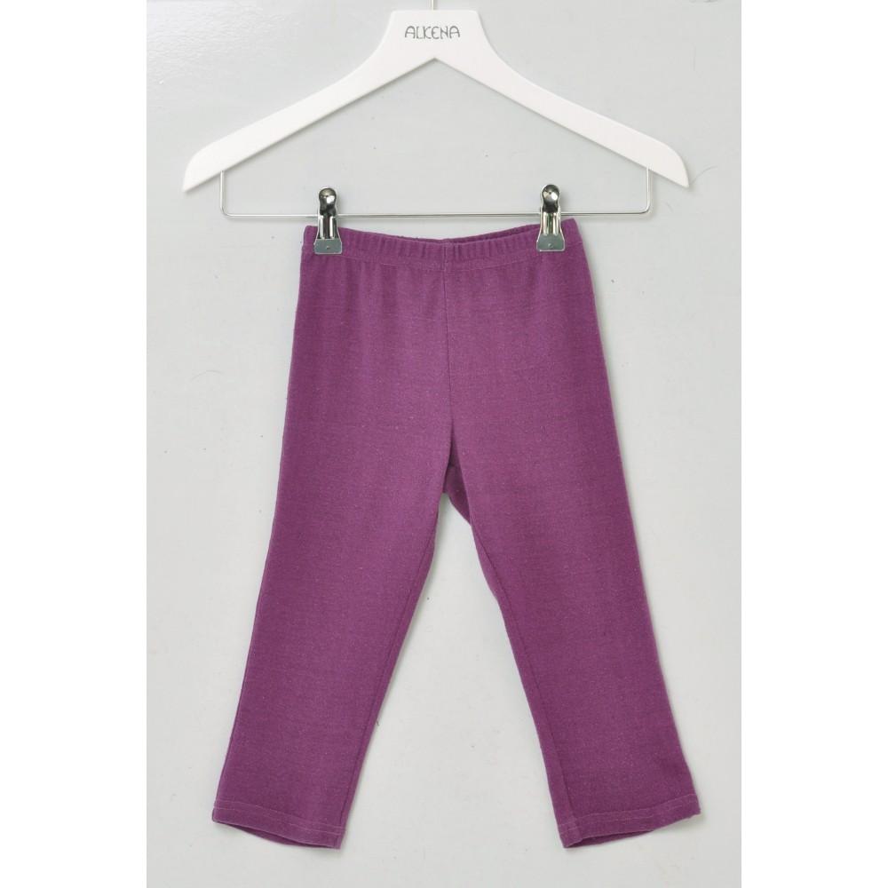 Alkena bukser bourette silke mørk lilla-31