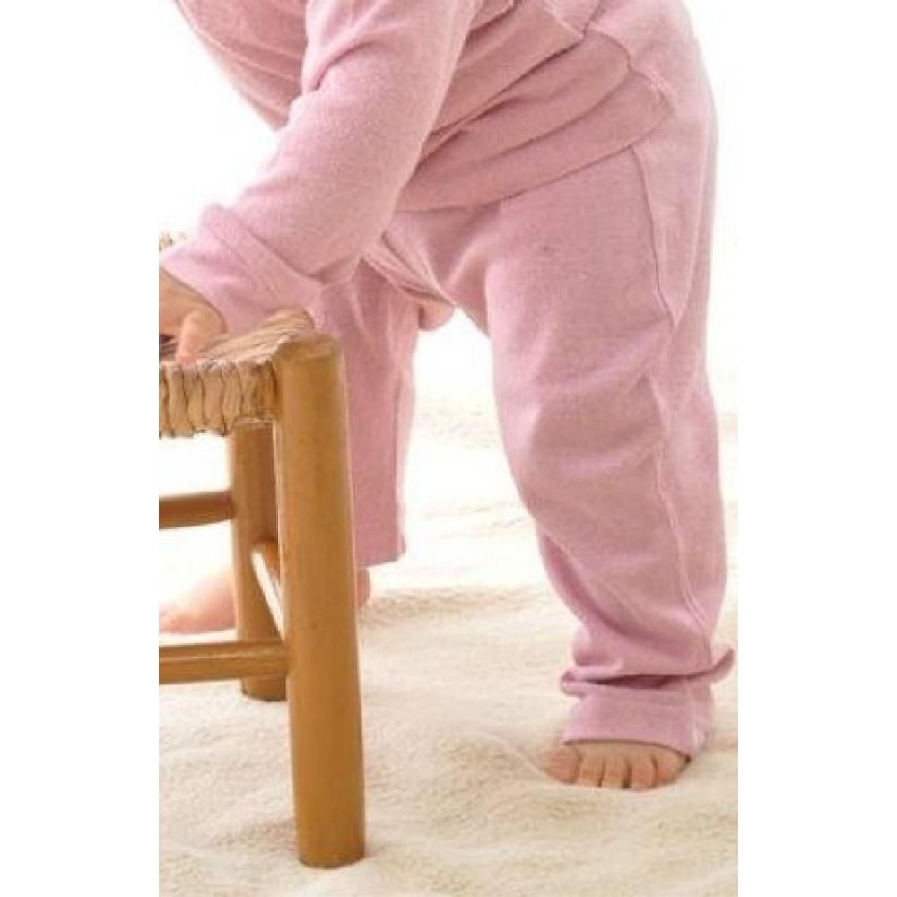 Alkena bukser bourette silke støvet rosa-01