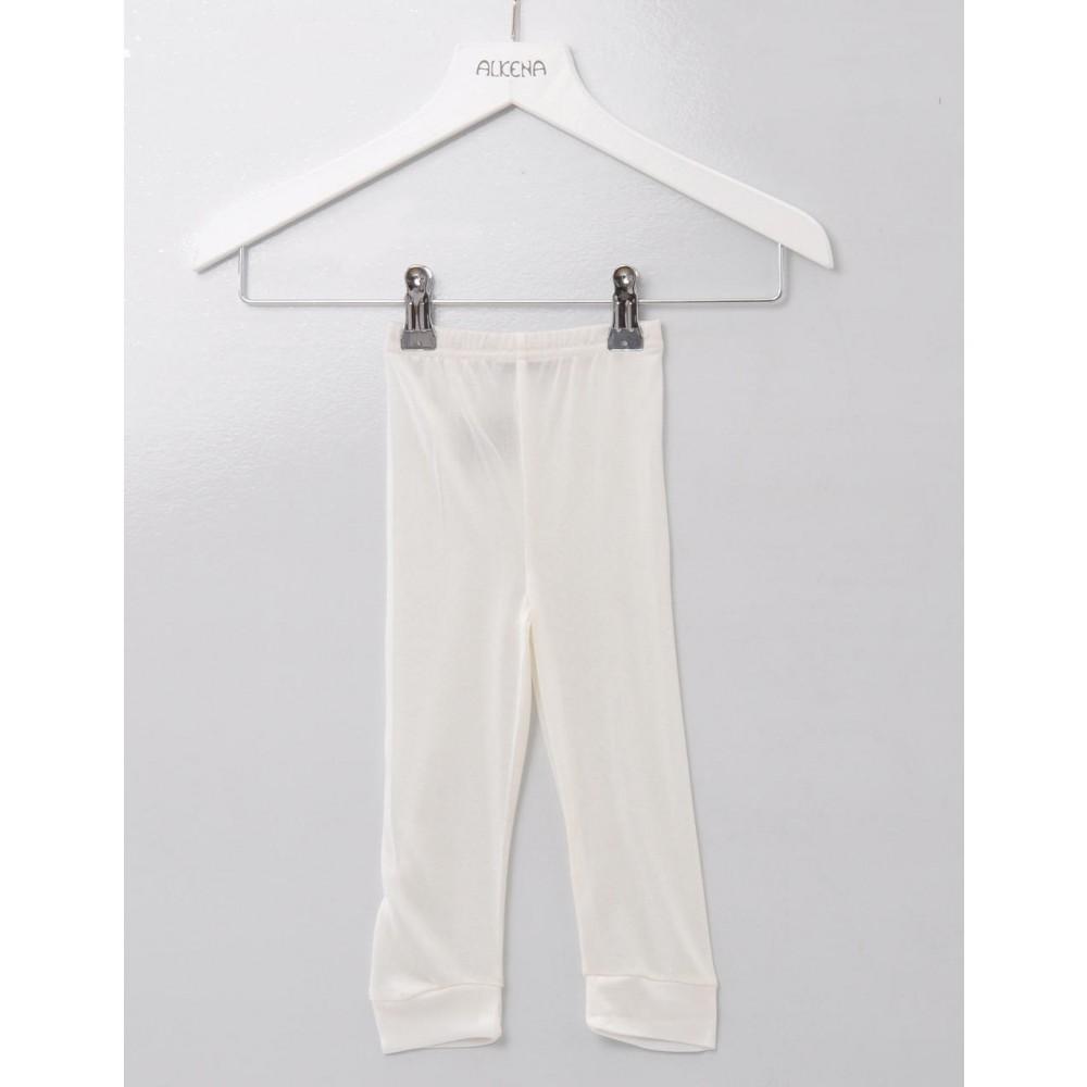 Alkena babyleggings økologisk silke natur-31