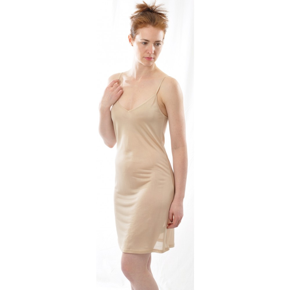 Alkena underkjole/natkjole økologisk silke nude-01