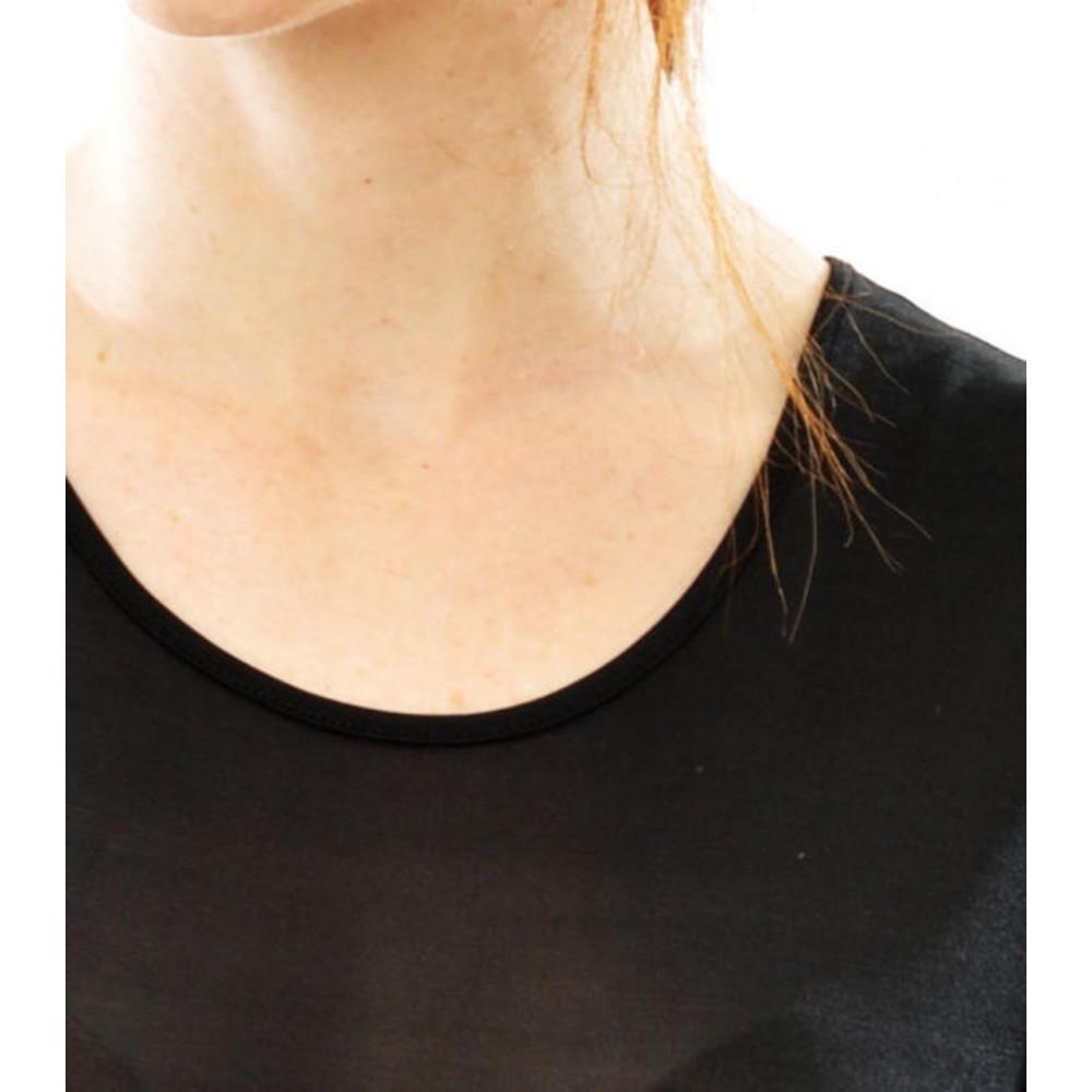 Alkena kortærmet t-shirt rund hals økologisk silke sort-01