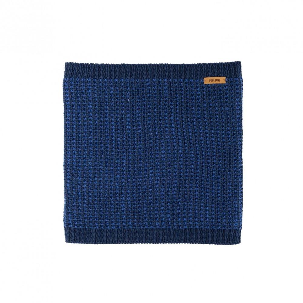 Pure Pure halsedisse uld/silke/bomuld marineblå melange-31