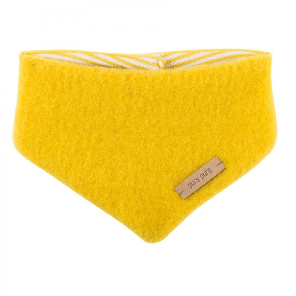 Pure Pure uldfleece tørklæde lemon curry-31