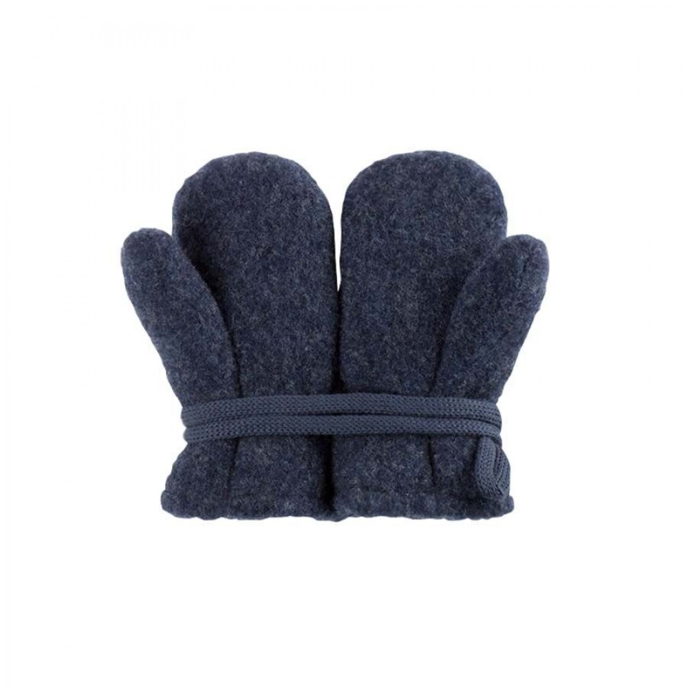 Pure Pure vanter økologisk uldfleece jeansblue-32