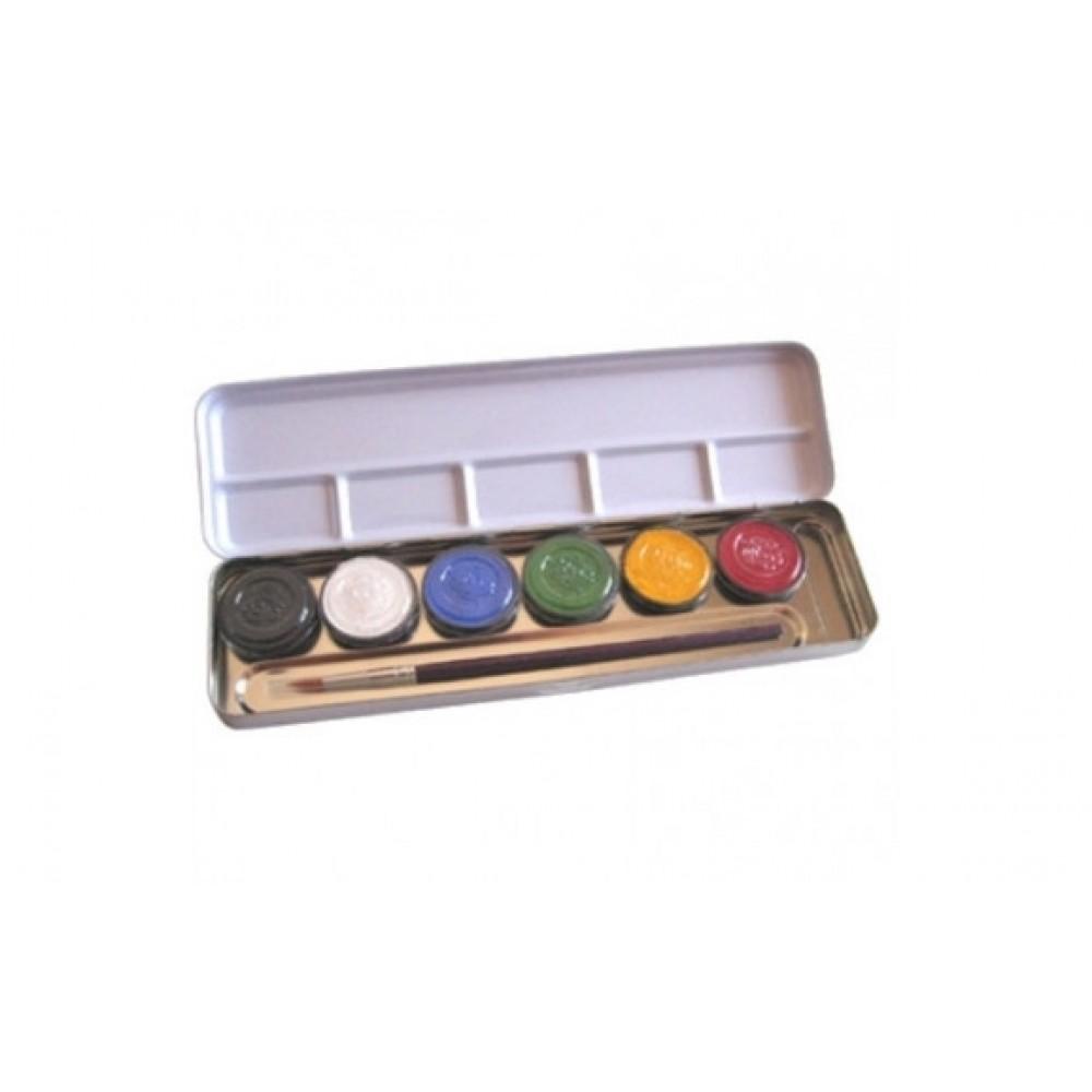 Eulenspiegel ansigtsfarver sminke farver 6 farver perle-31
