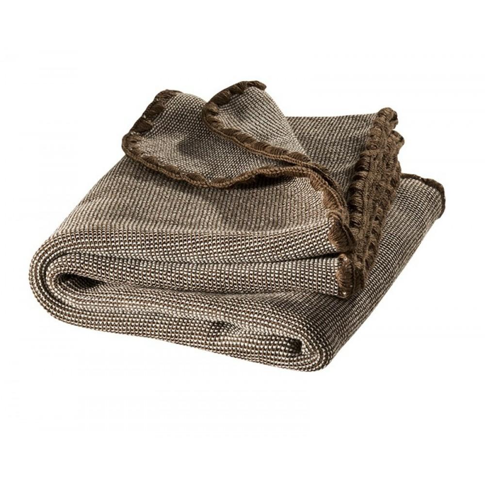 DISANA babytæppe økologisk uld brun melange-31