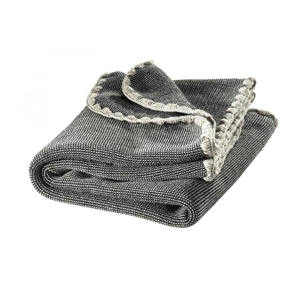 DISANA babytæppe økologisk uld antrazitgrå melange-31