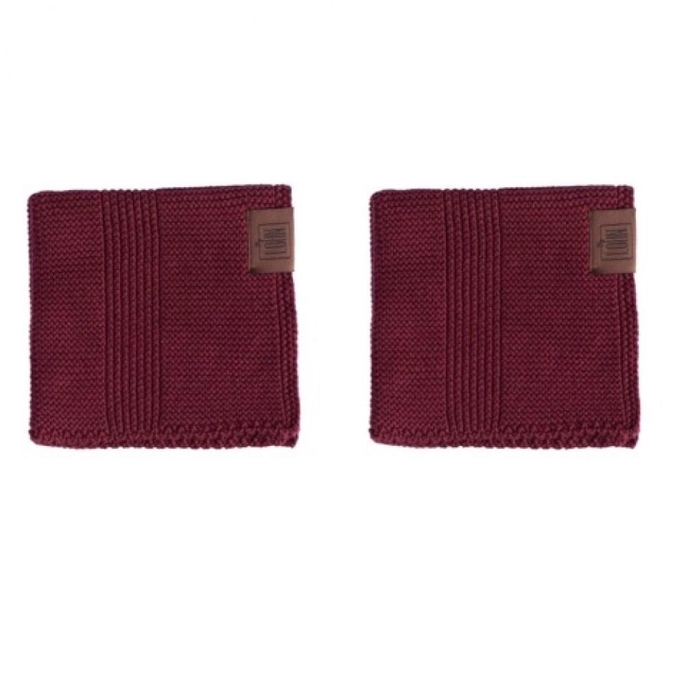 By Lohn all round cloth 25x25 cm. 2 stk. maroon-31