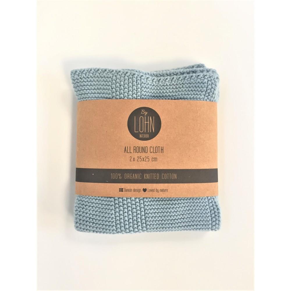 By Lohn all round cloth 25x25 cm. 2 stk. powder blue-31