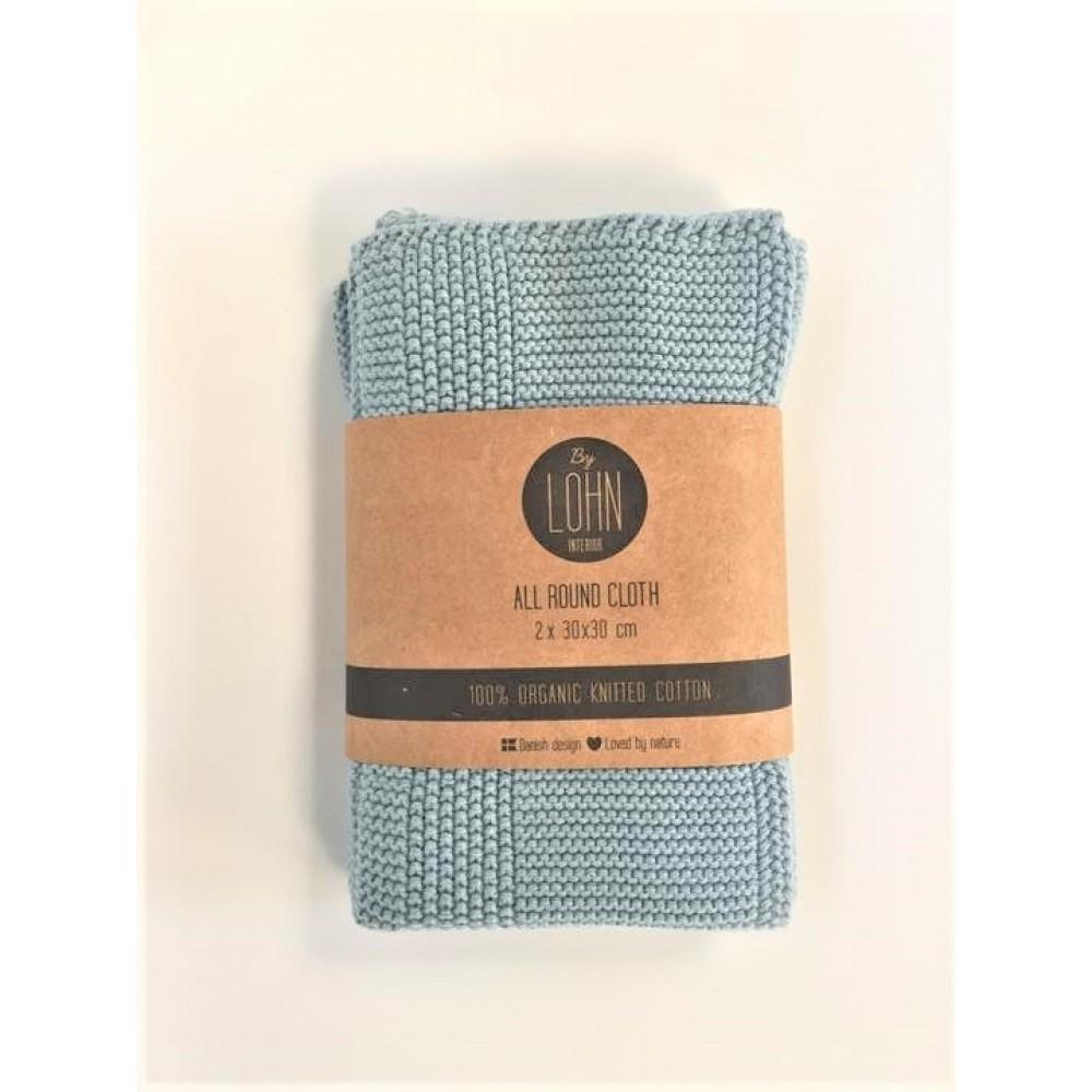 By Lohn all round cloth 30x30 cm. 2 stk. powder blue-31