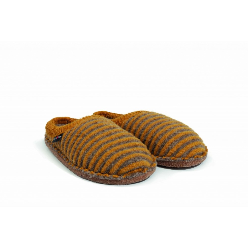 Haflinger hjemmesko i uld Flair Cathy karry/sand-31