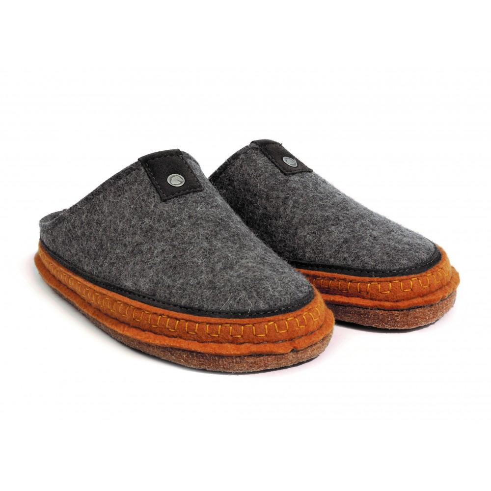 Haflinger hjemmesko i uld Flair Altai antracit-31