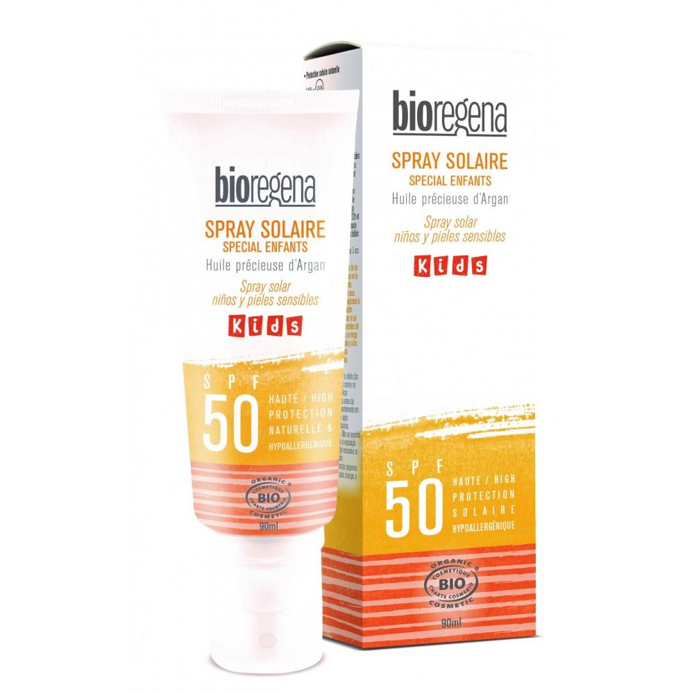 Bioregena spray solcreme til børn faktor 50-31