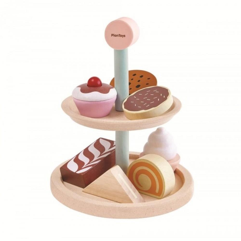 Plan Toys opsats med kager og mad-31