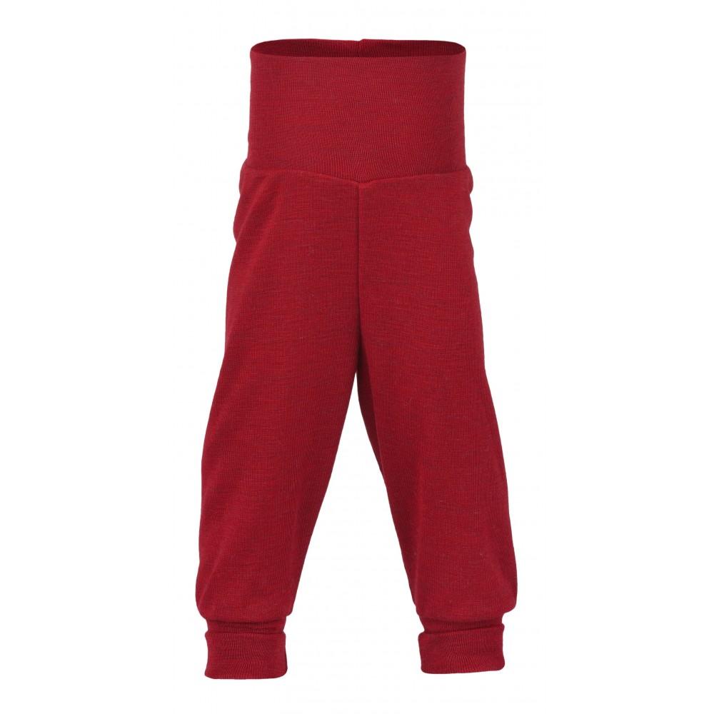 Engel babybukser uld rød melange-31