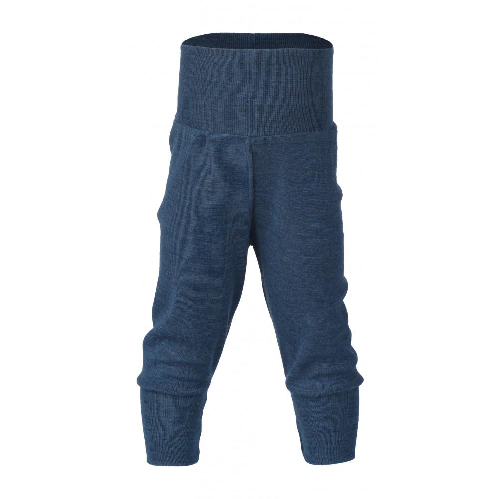 Engel babybukser uld blå melange-31