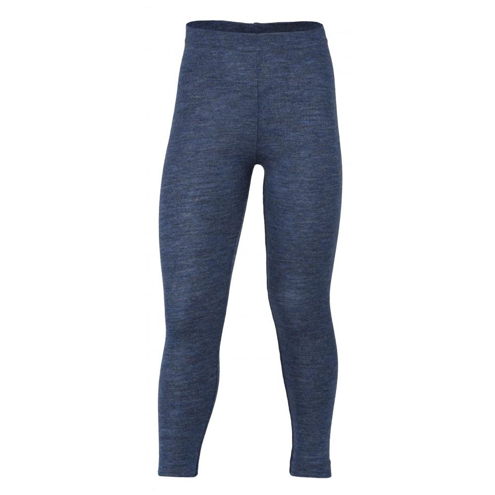 Engel leggings uld blå melange-31