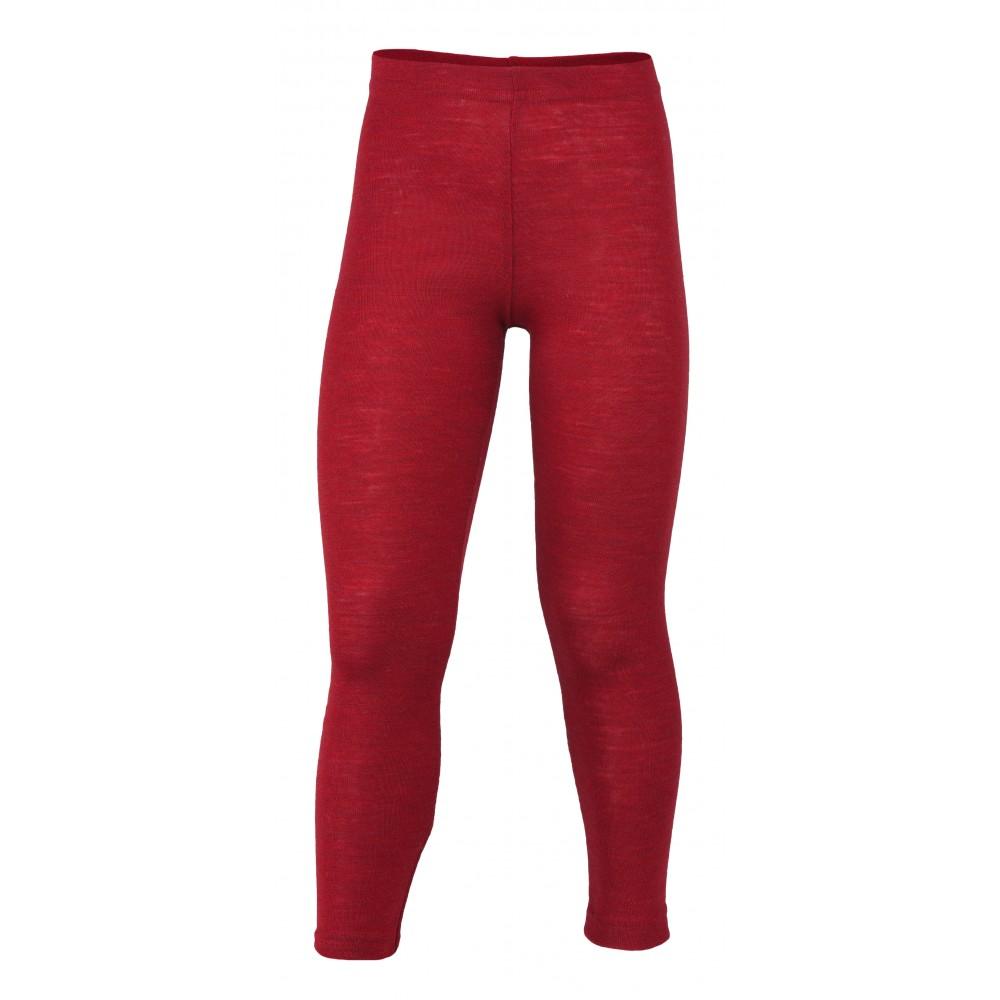 Engel leggings uld rød melange-31