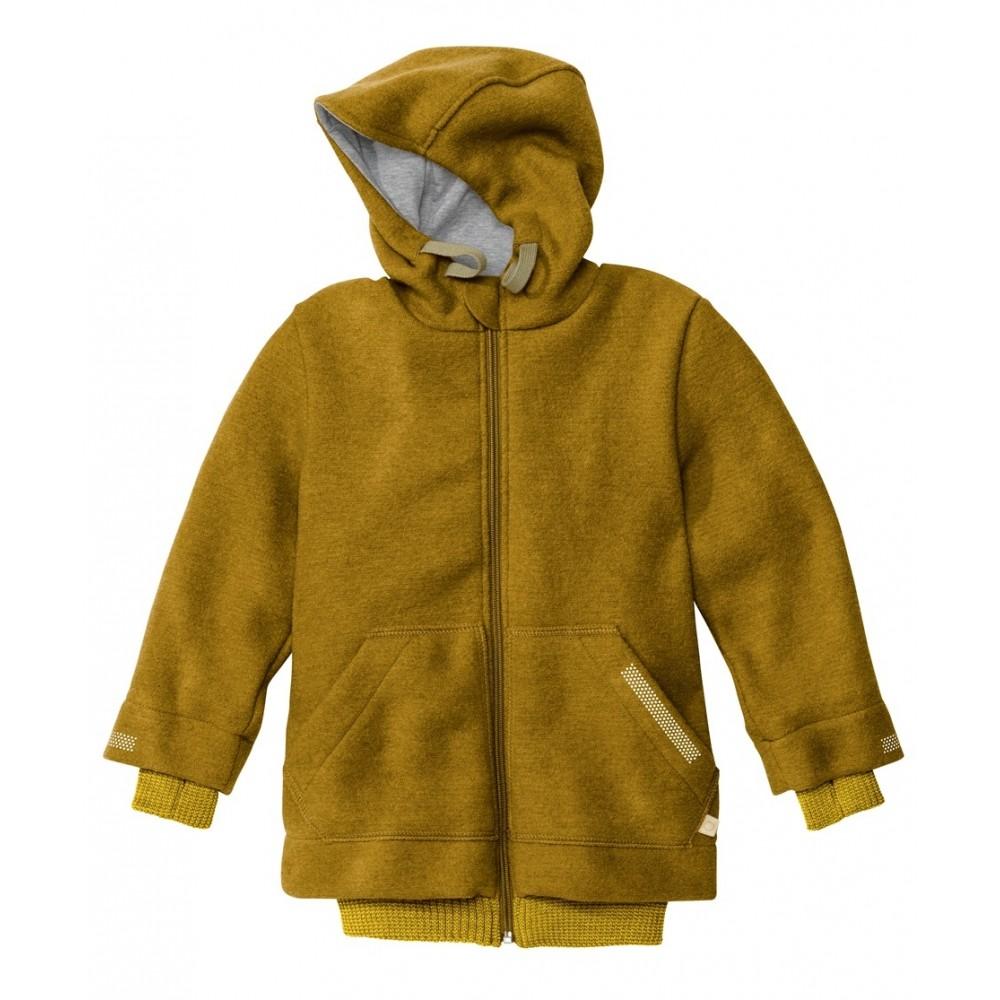 DISANA helårsjakke i uld gold fåes helt op til str. 152-31