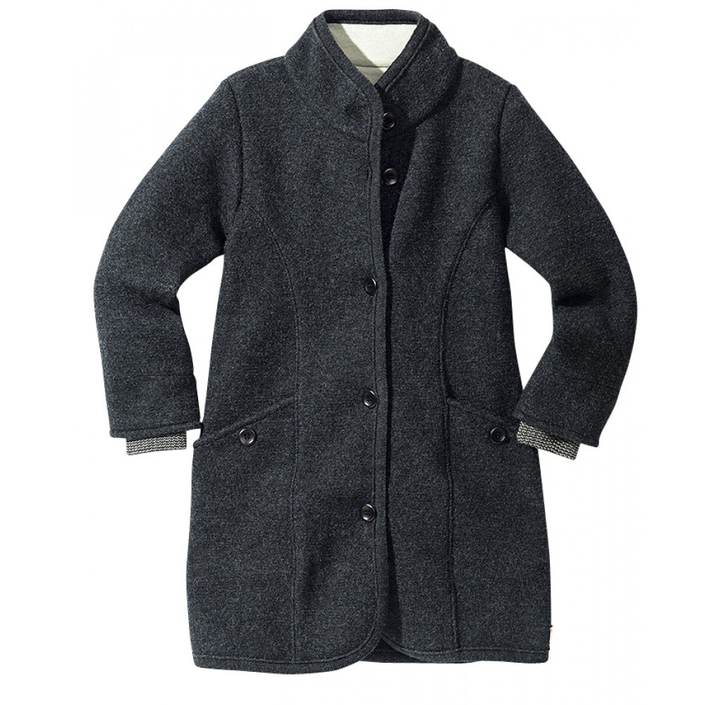 DISANA | lang uldjakke | kogt uld | koksgrå-31