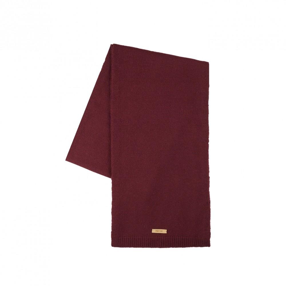 Pure Pure halstørklæde merinould and kashmir bordeaux-31