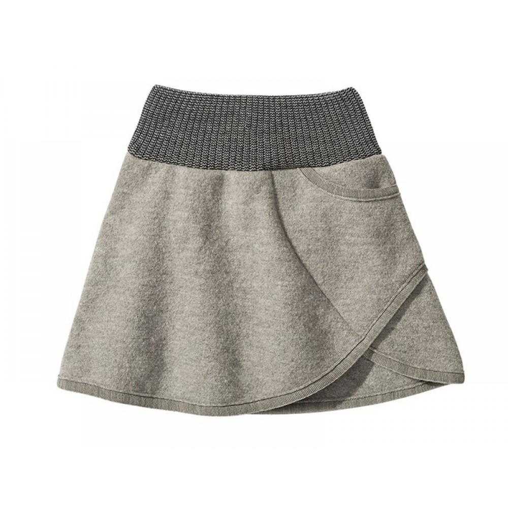 DISANA | nederdel | kogt uld | grå-31