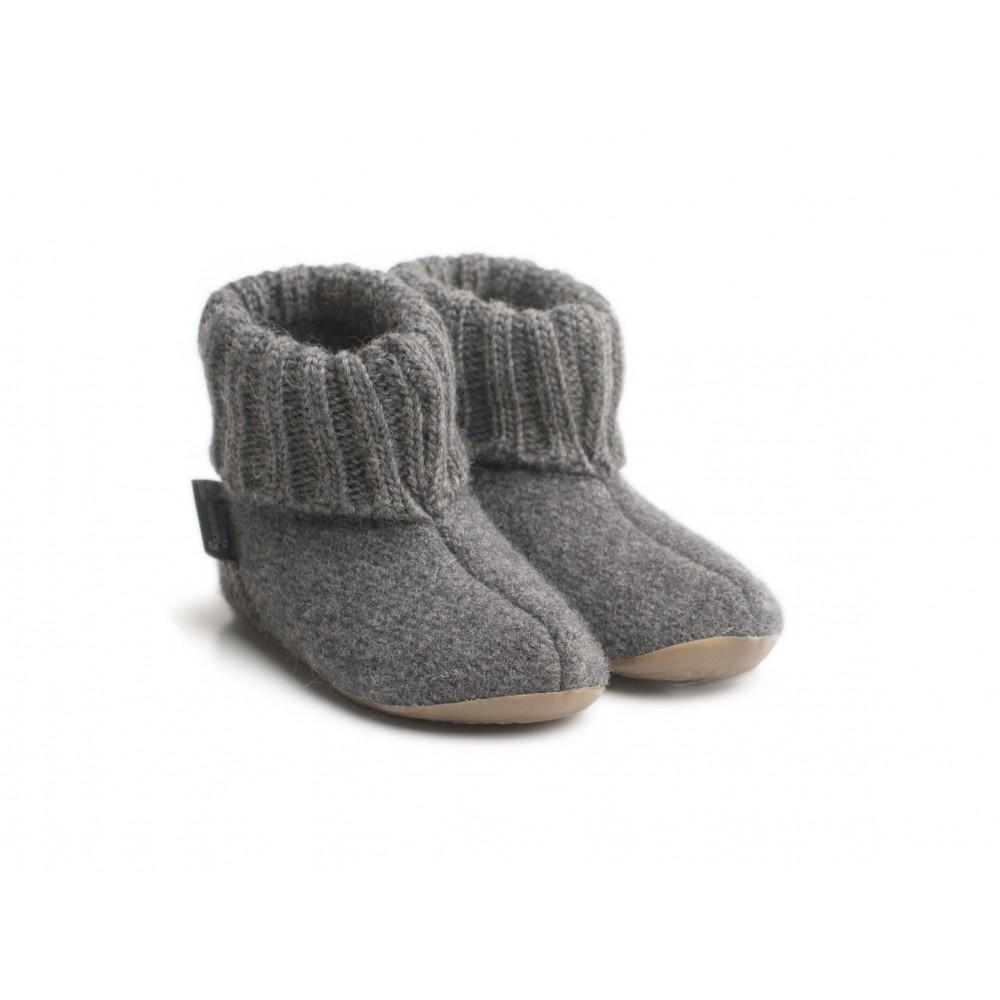 Haflinger indesko karlo uld naturgummisål antracitgrå-31