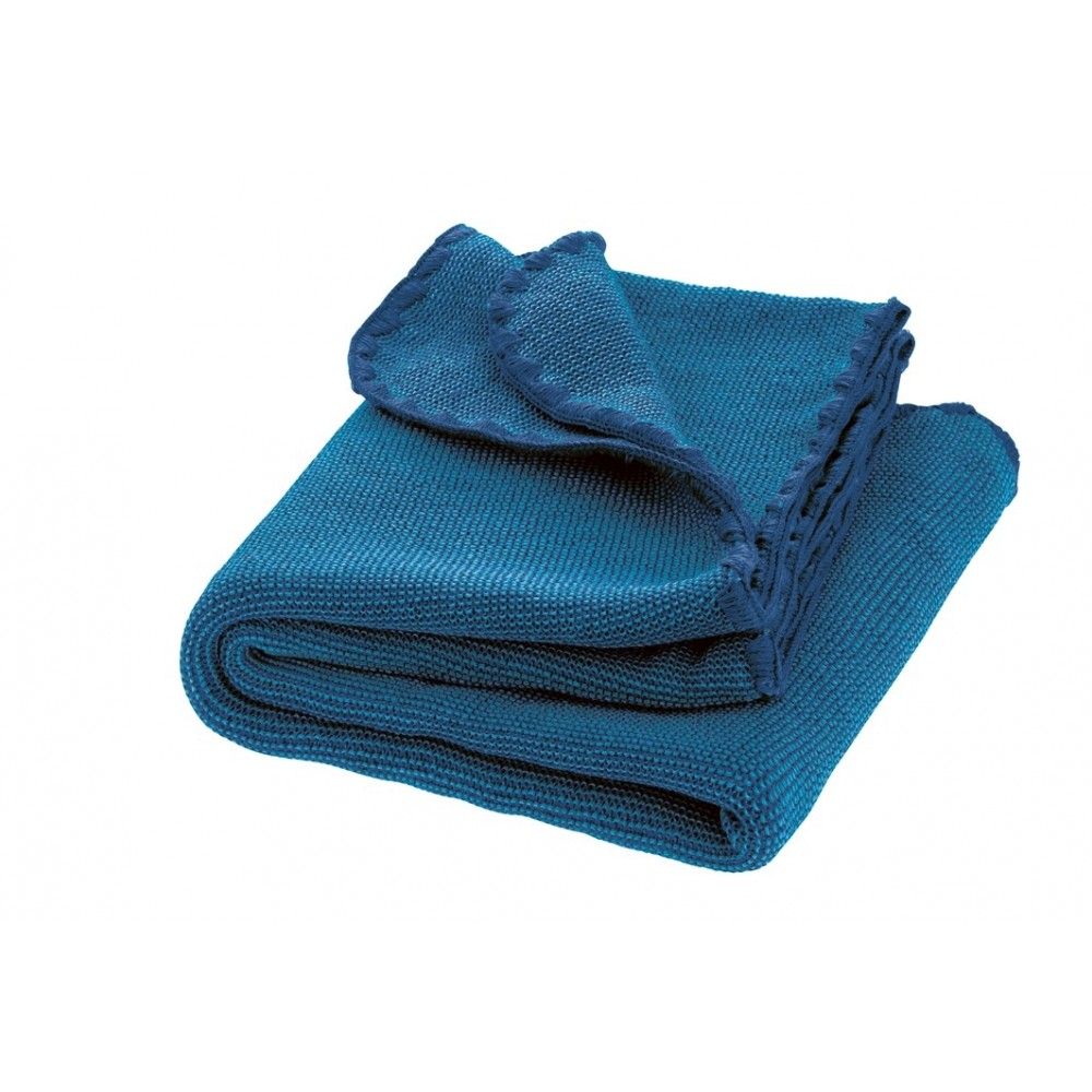 DISANA babytæppe økologisk uld marine/blå melange-31