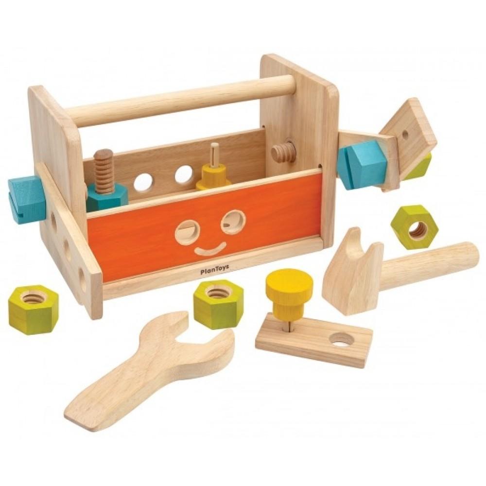 Plan Toys værktøjskasse i træ-31