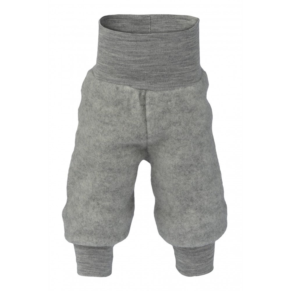 Engel bukser i økologisk uldfleece grå-32
