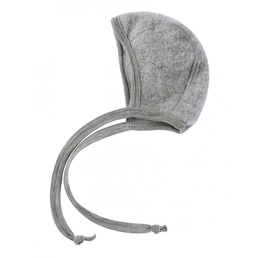 Engel | babyhue i uldfleece | grå-31