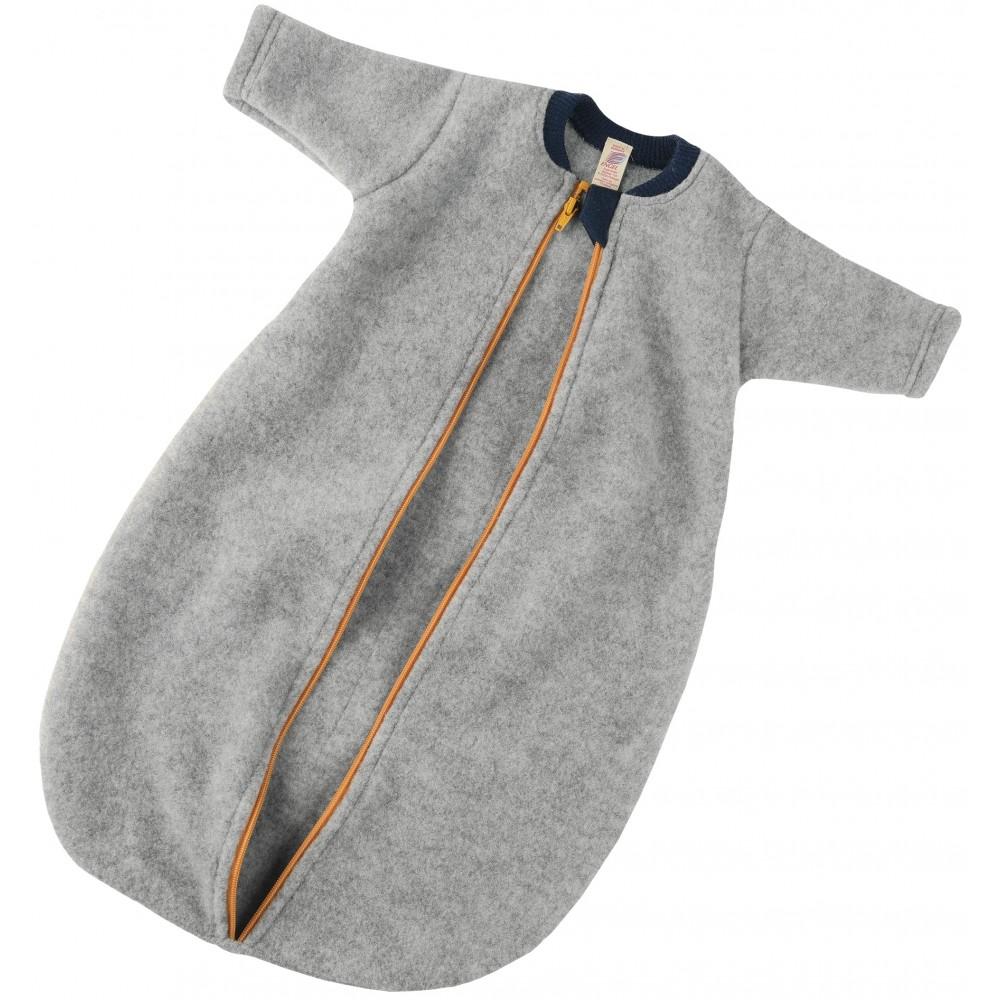 Engel sovepose med lynlås økologisk uldfleece grå-31