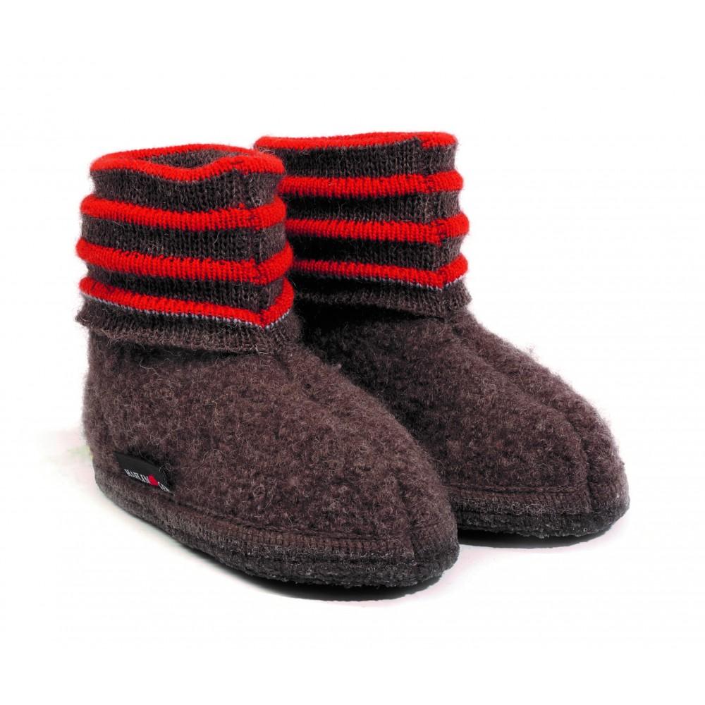 Haflinger indesko Linea uld brun melange-31