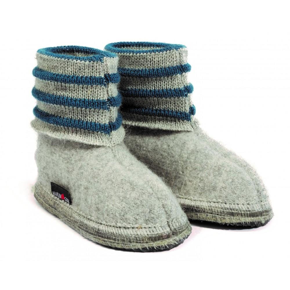 Haflinger indesko Linea uld grå melange-31