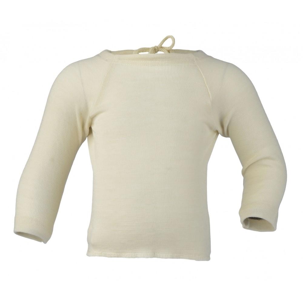 Engel baby slå-om bluse uld and silke natur-31