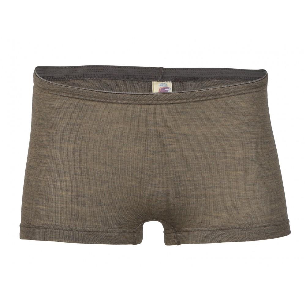 Engel dame hotpants uld and silke valnød-32