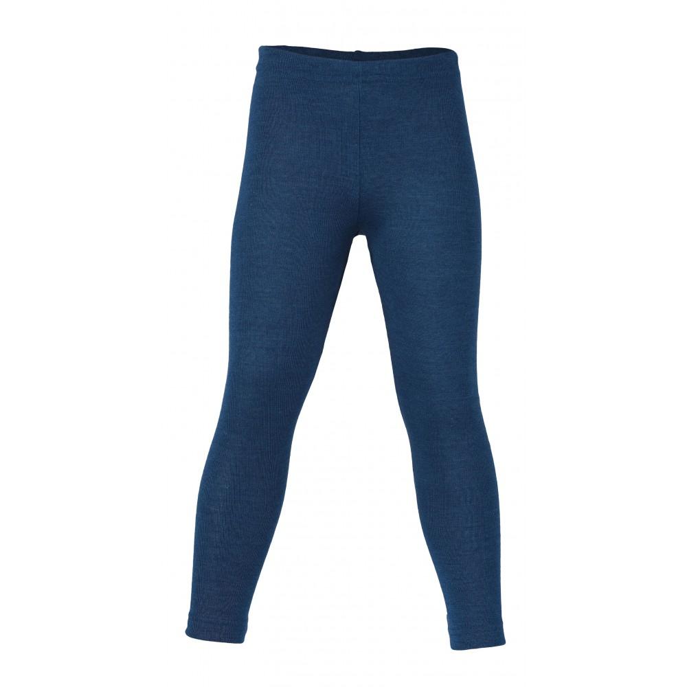 Engel leggings uld and silke petroleumsblå-31