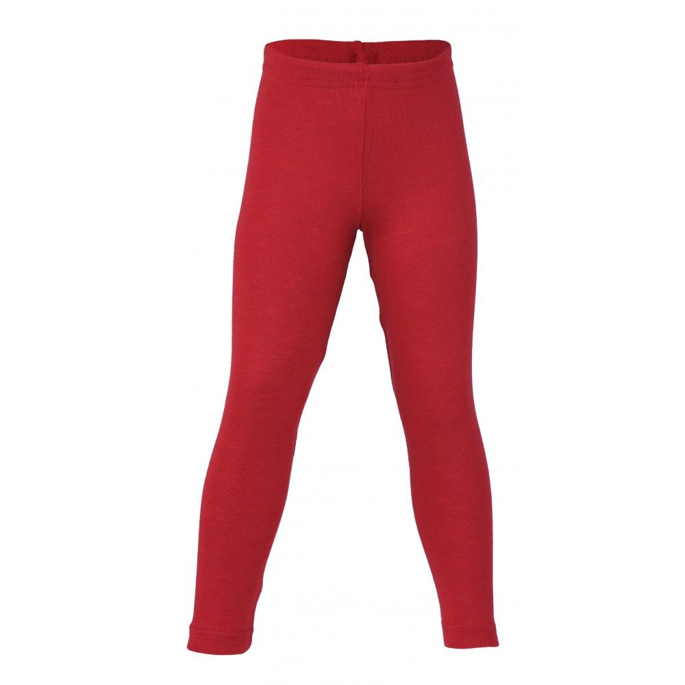 Engel leggings uld and silke rød-31
