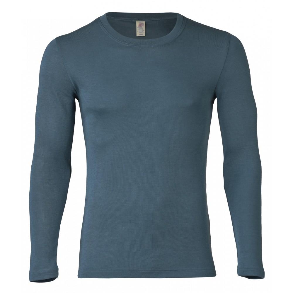 Engel herre langærmet t-shirt uld and silke atlantic-31