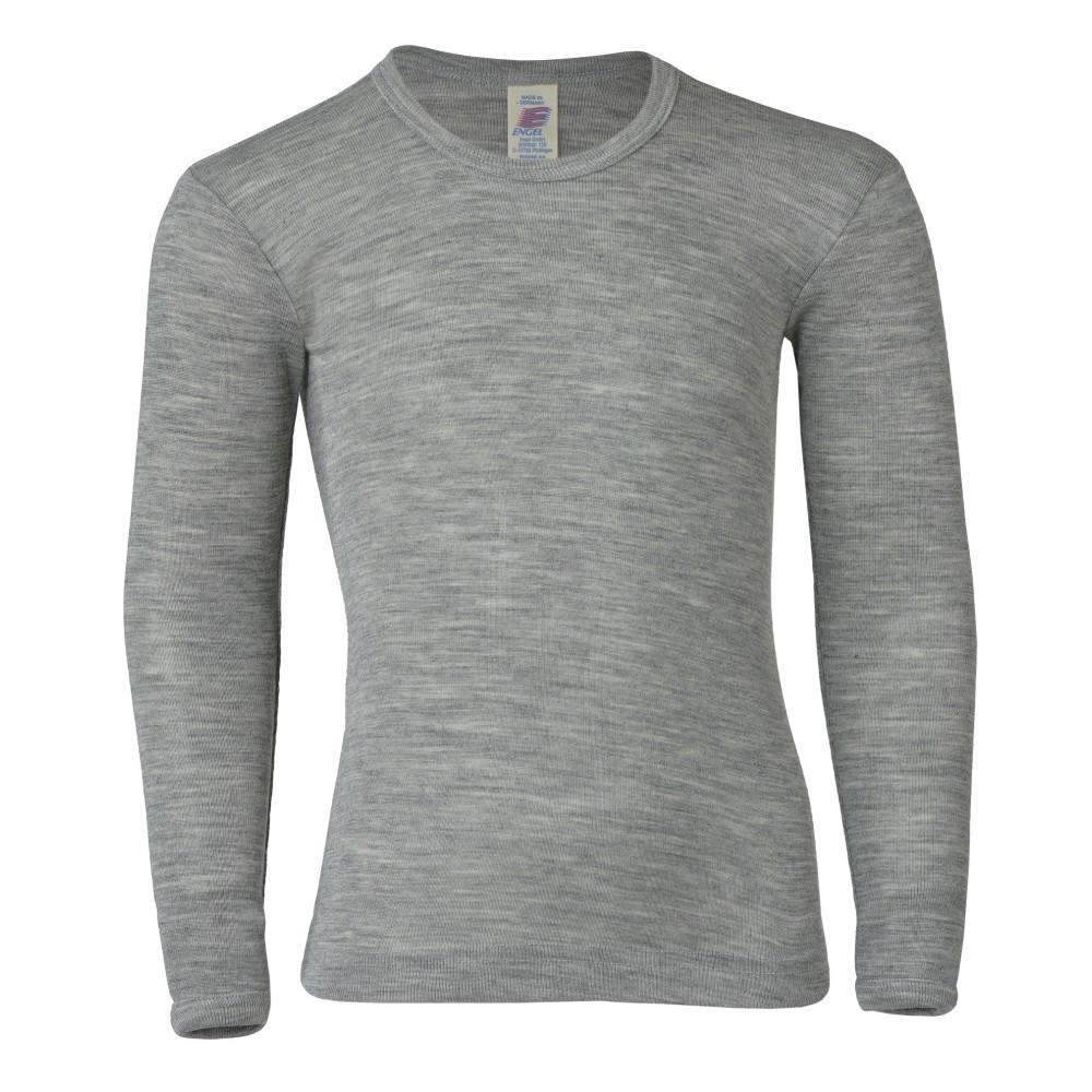 Engel langærmet bluse uld and silke grå-31
