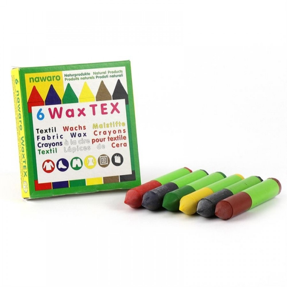 ÖkoNORM tekstilfarver bivoks 6 farver-31
