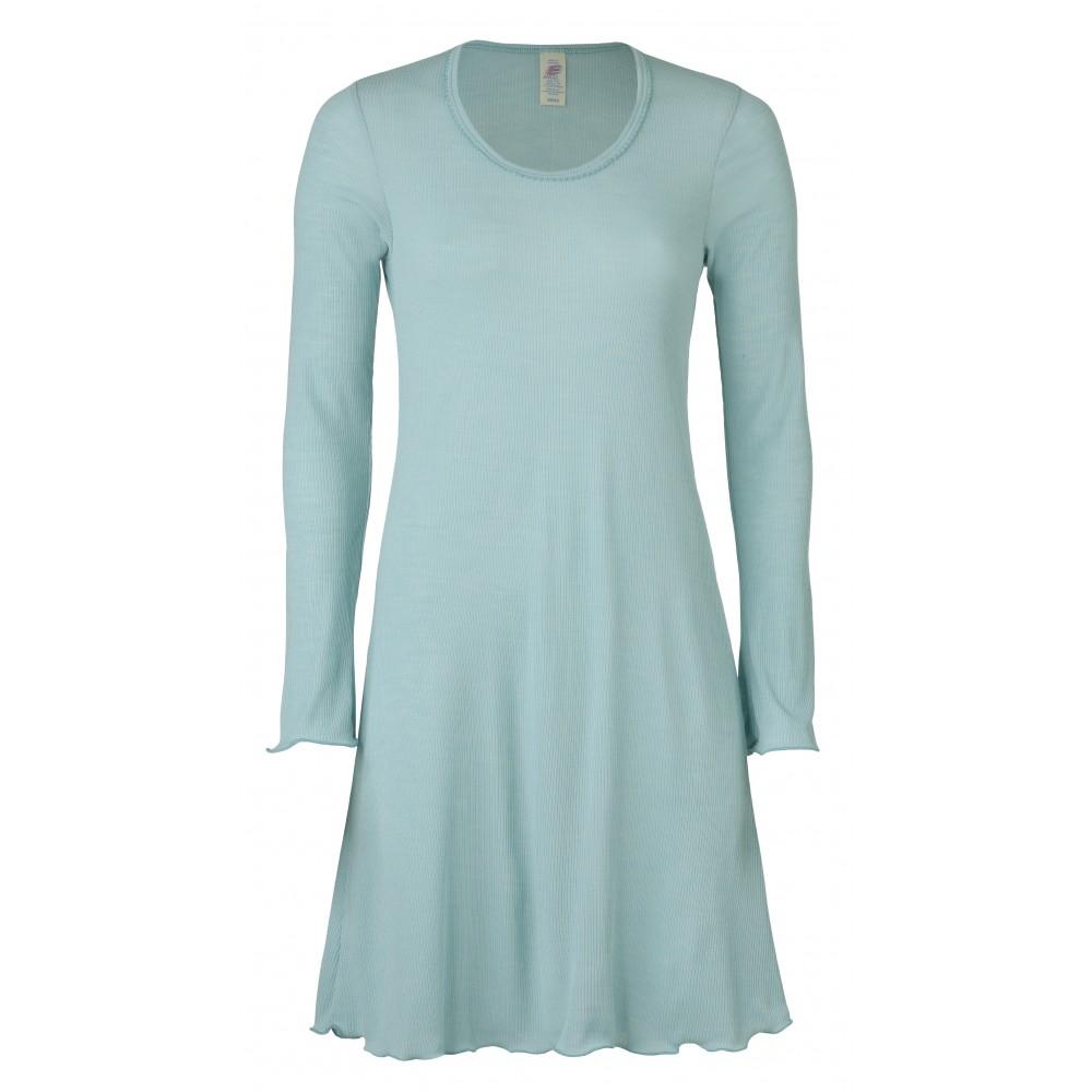 4842f189553b Dame natkjole mint - gots certificeret økologisk uld og silke