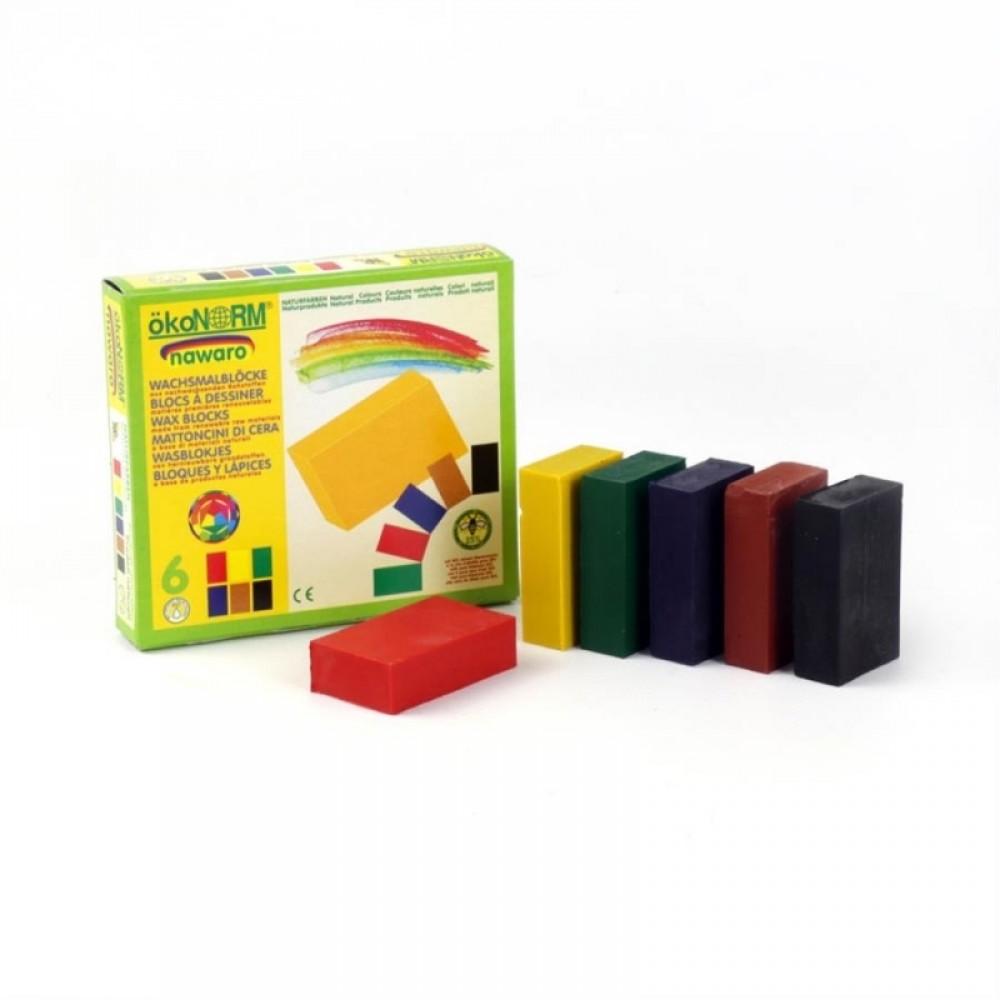 ÖkoNORM bivoks blokke 6 stk. klassiske farver-31